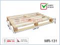 MR-131 paleta drewniana jednorazowa suszona 1200x800x125 (mm)