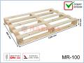MR-100 paleta drewniana jednorazowa suszona 1200x800x125 (mm)