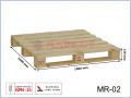 MR-2 paleta drewniana jednorazowa suszona 1000x1000x129 (mm)