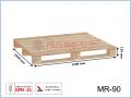 MR-90 paleta drewniana jednorazowa suszona 1200x1000x129 (mm)