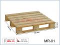 MR-1 paleta drewniana jednorazowa suszona 790x770x128 (mm)