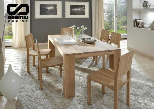 Prostokątny Stół Dębowy Rozsuwany Terra Z Krzesłami Katalog