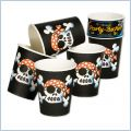 Kubeczki papierowe Pirat Jolly Roger