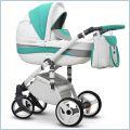 Zielono - Biały EVADO ECO 2w1 Wózki dziecięce wielofunkcyjne WIEJAR